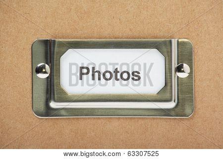 Photos Drawer Label