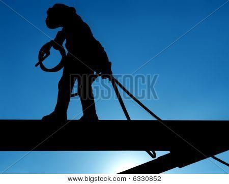 Строительный рабочий.