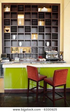 Coffee Bar In Luxury Hotel, Dubai, Uae
