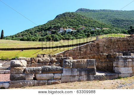 The Ruins In Ancient Messene (messinia), Peloponnes, Greece