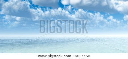 Tropical ocean and clouds