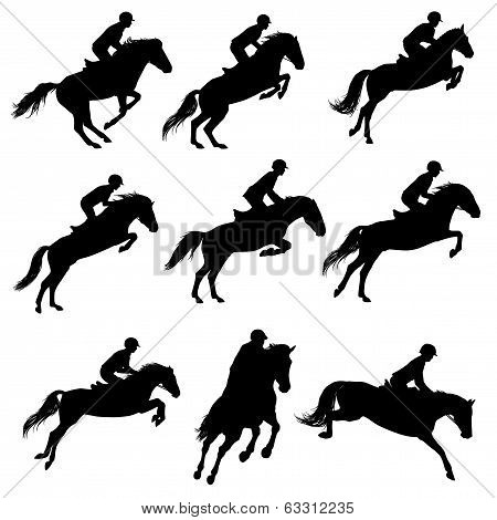Showjumping Silhouettes