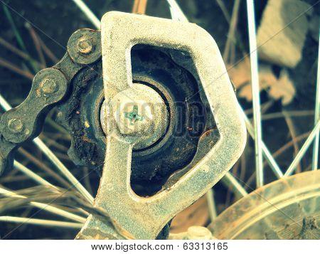 Alphabet letter D bike parts