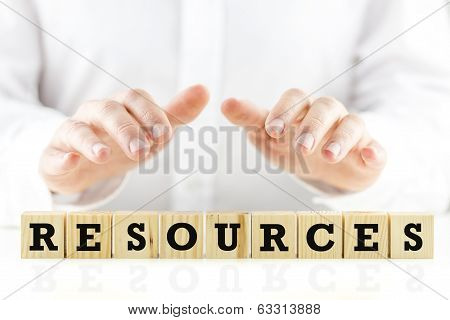 Businessman Protecting His Resources