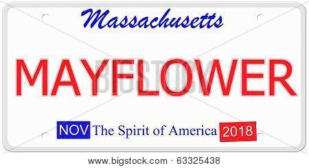 Massachusetts Mayflower License Plate