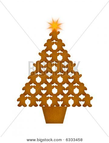 Gingerbread Men Christmas Tree