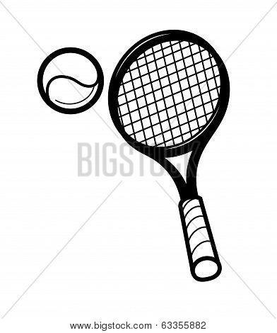 tennis racket and ballon