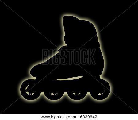 Dark Roller-skate Boot