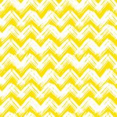 Vector seamless chevron pattern hand painted with bold brushstrokes in bright yellow can be used for print, wallpaper, spring summer fashion, fabric, textile, gift wrapping paper, home decor poster