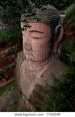 Giant Buddha in Leshan, Sichuan province, China poster