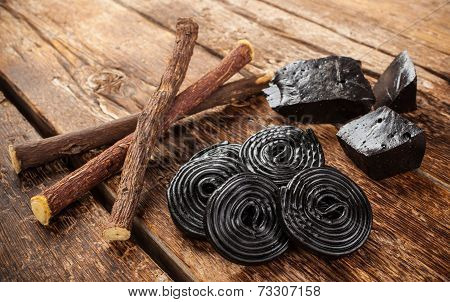 Production Steps Of Licorice, Roots, Pure Blocks And Candy.
