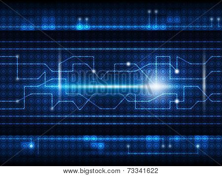 Blue abstract future digital technology concept background poster
