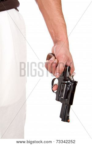 Violent Man Holding Gun