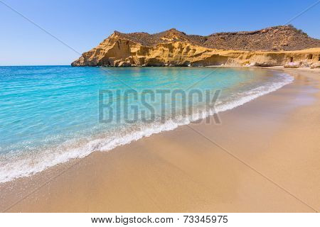 Cocedores beach in Murcia near Aguilas at Mediterranean sea of spain