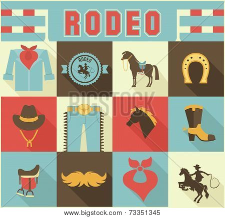 Assortment of Rodeo Themed Icons