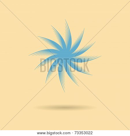 Abstract Icon Tumbleweed With Shadow