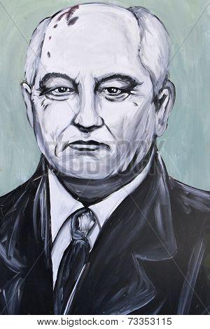Graffiti Portrait Of Mikhail Gorbachev