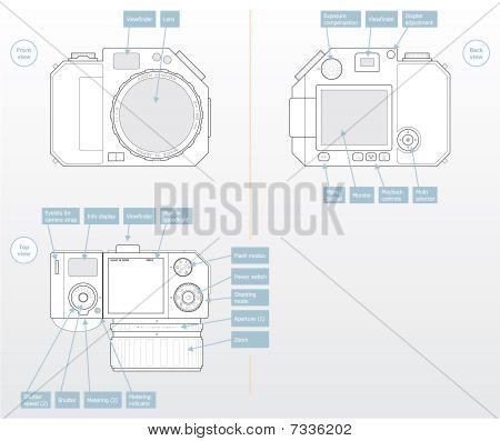 Camera concept in vector format