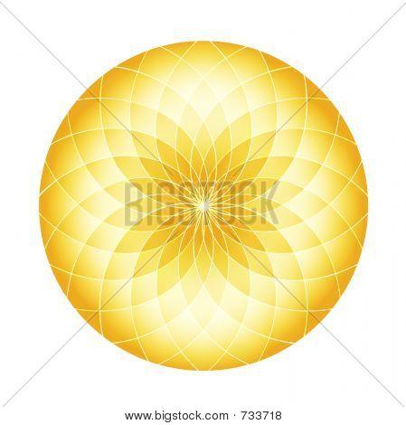 Abstract Circle - Golden Fractals