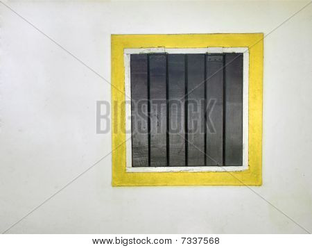 Old Wooden Window In A White House