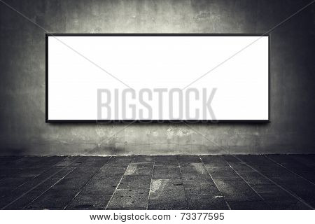Blank Billboard On Street Wall