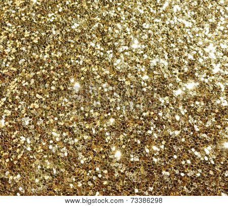 Gold Glitter Sparkle Sparkly Confetti Background