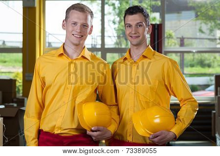Young Factory Workers
