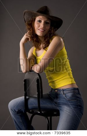 Astride A Chair