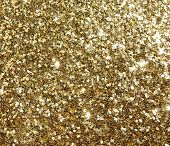 Pretty, glamorous golden shiny sparkle glitter background pattern in metallic shimmer yellow gold pattern. Great for holiday sparkle, an extra touch of girly shine and bling. poster