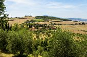 Rural Landscapes Of Beautiful Tuscany, Italy in daylight poster
