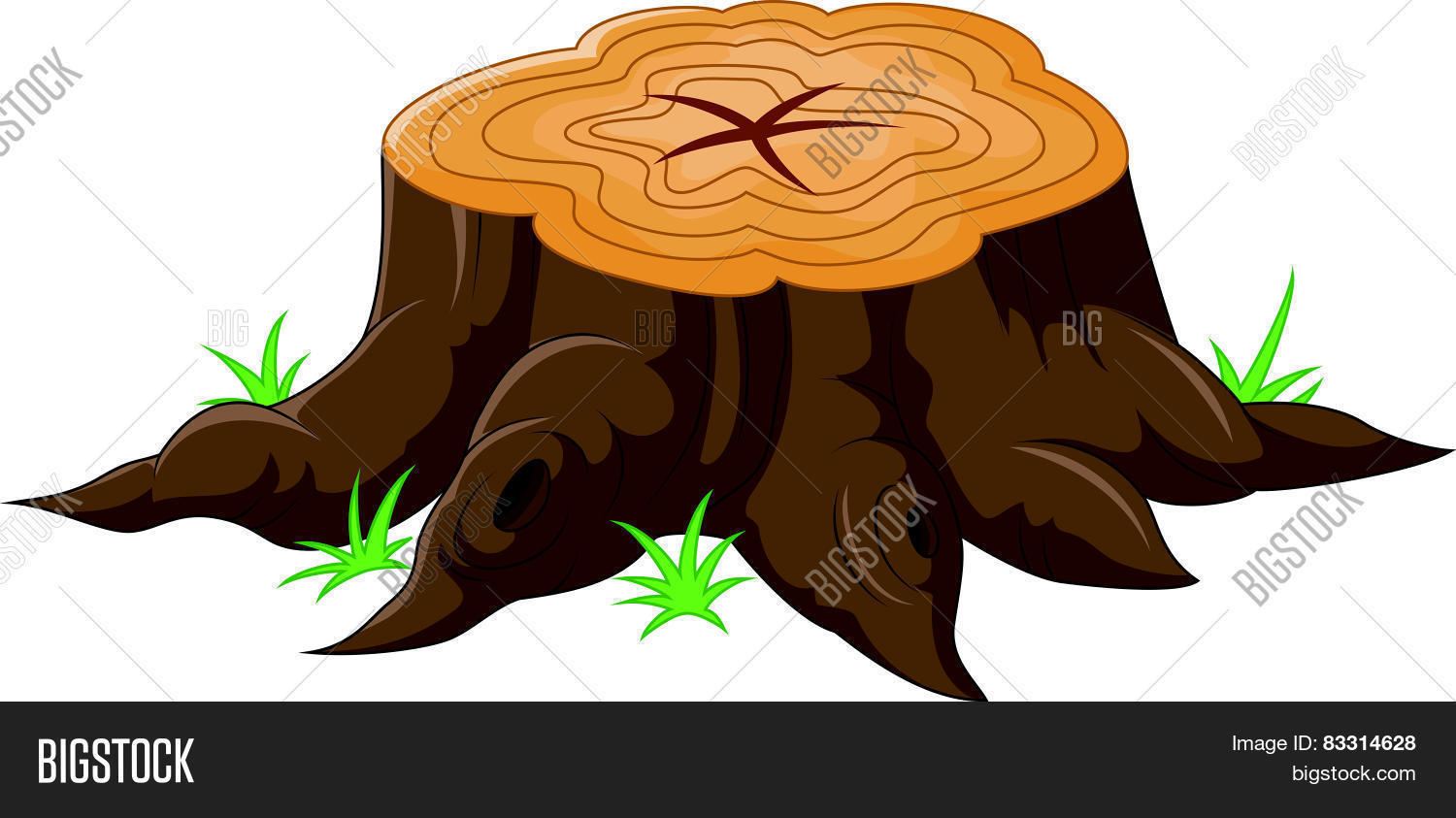 Cartoon Tree Stump Vector Photo Free Trial Bigstock Old tree stump 3d model cgtrader. cartoon tree stump vector photo free