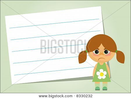 Lined Paper On A Green Background
