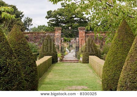 Walled Garden With Topiary
