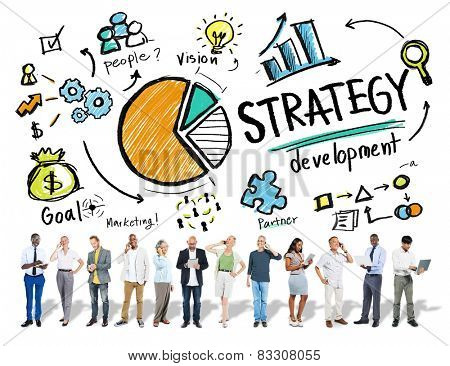 Strategy Development Goal Marketing Vision Planning Business Concept