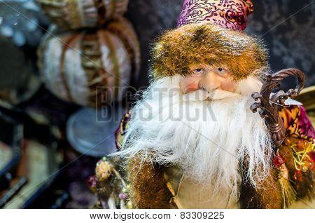 Beautiful Christmas statue of Santa Claus