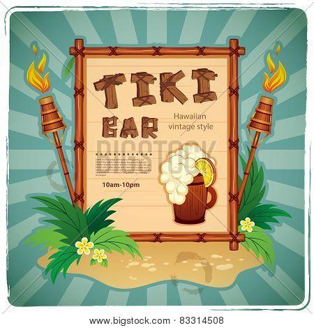 Retro Tiki bar sign