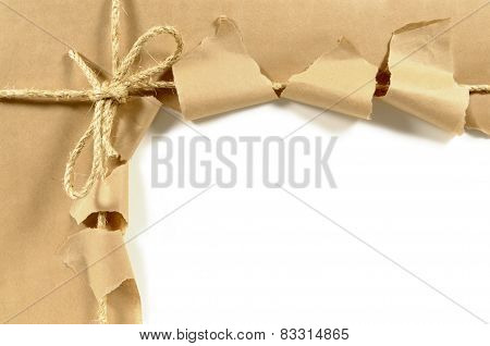 Torn Brown Parcel