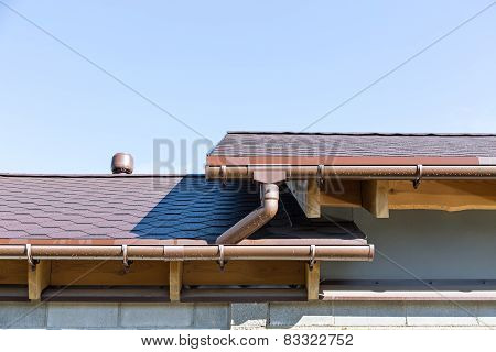 Rain Gutter And Roof Top