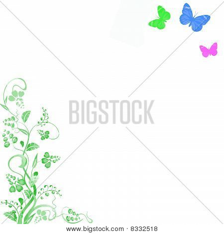 floral butterflly background