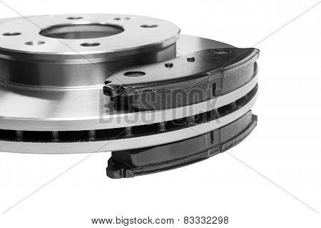 Brake pads to the brake disc
