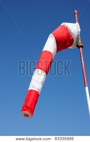 Red and white windsock.