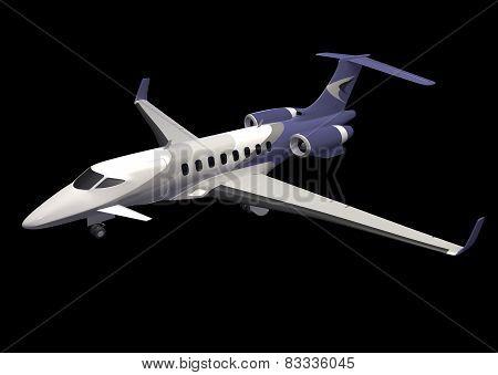 Private jet concept