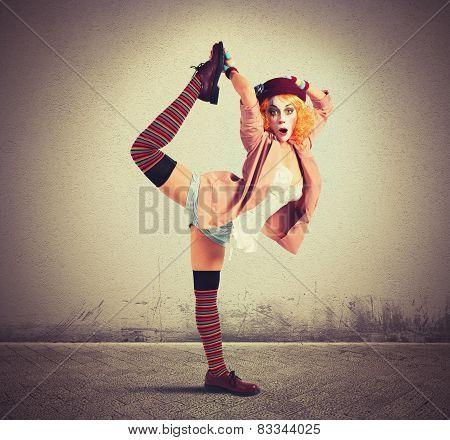 Extravagant clown