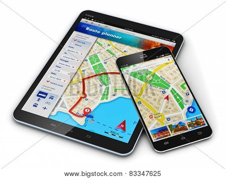GPS navigation on mobile devices