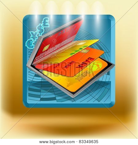 Icon With Business Cards