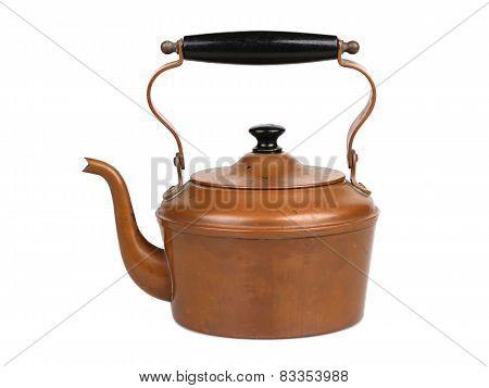 Antique Copper Teapot Teakettle