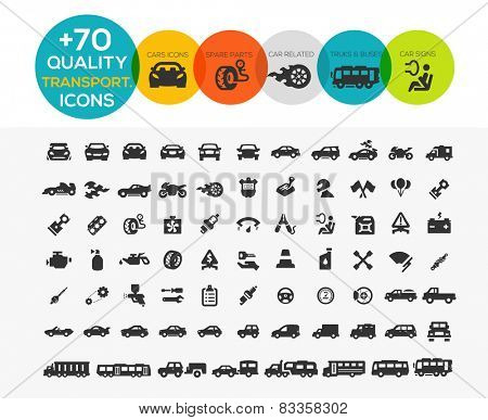 74 Transportation Icons extreme Series