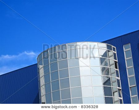 Office Realestate Modern Building On Blue Sky