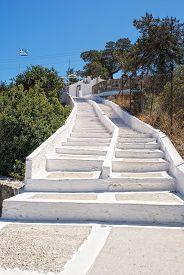 White Stairs Going Upwards.