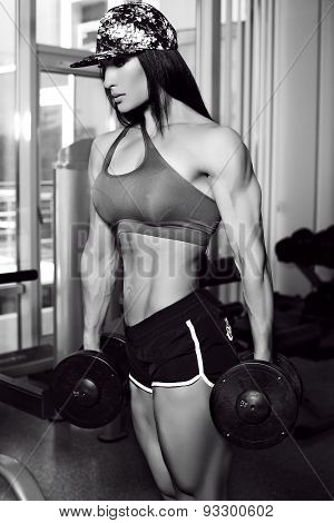 Bodyfitness Champion Of World Ladies Cup Training In Gym